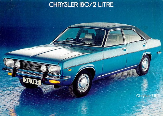 Chrysler's French built 180 and 2litre range was originally to carry the Humber badge when launched in the UK in the early 70S, cant be many of these left on uk roads now.     nice chrysler photo found on the web