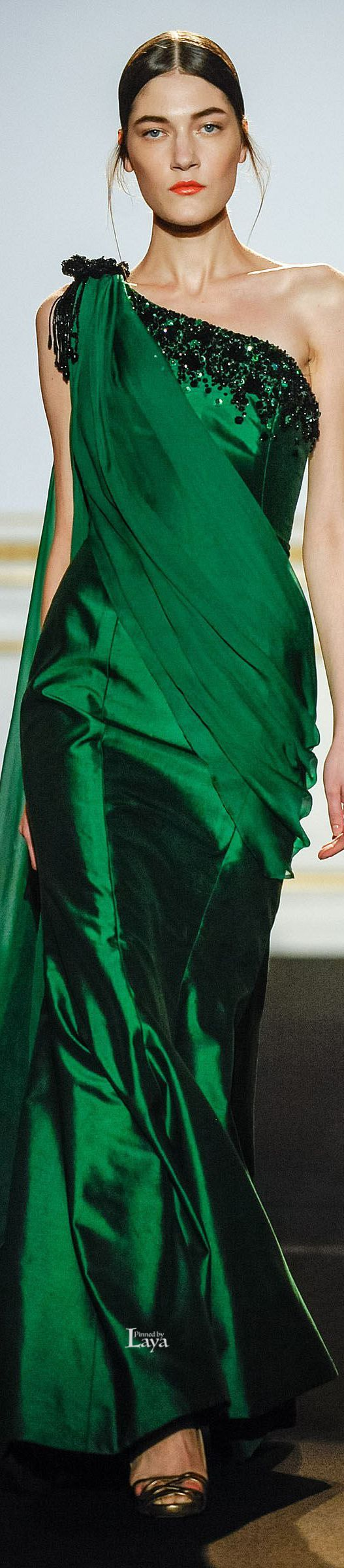 Dany Atrache ~ Couture Emerald Green Gown, Summer 2015
