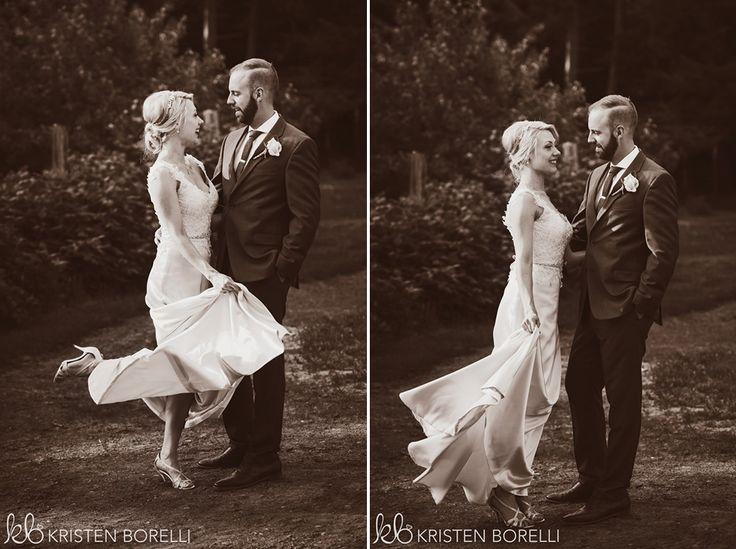 Thetis Island Overbury Resort Wedding. Vintage bride and groom portraits.