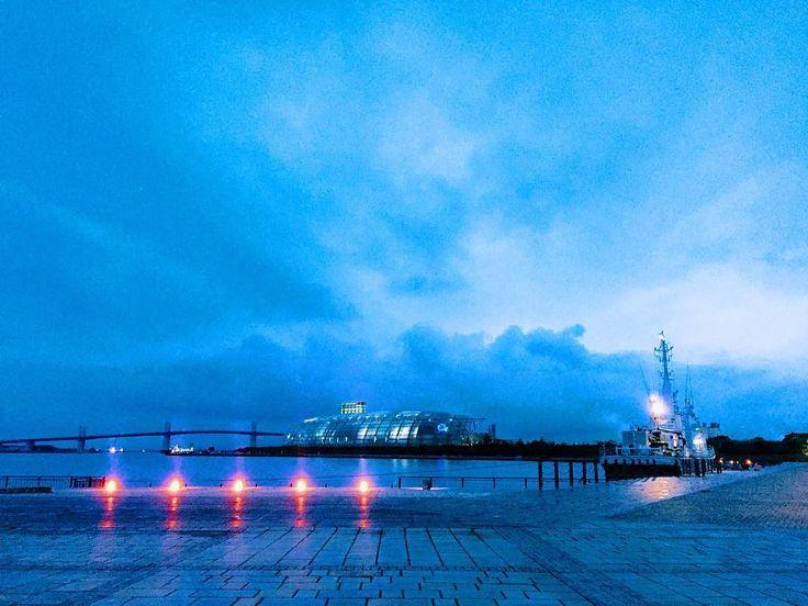 . 青の世界 - Blue World . どんどん日が暮れるのが早くなっていますね . ステキな土曜日の夜をお過ごしくださいませ . #いわきららミュウ #小名浜 #いわき #福島 #東北で良かった  #夕日 #夕焼け #小名浜 #夜景  #onahama #iwakicity #fukushima #japan #リフレクション #アクアマリンふくしま . #IGersJP#icu_japan#tokyocameraclub #whim_life#jp_gallery#IG_JAPAN#wu_japan#japan_daytime_view#IG_JAPAN #wu_japan