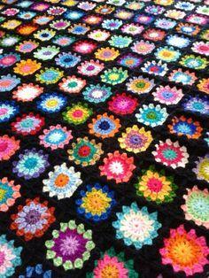 Granny crocheted afghan