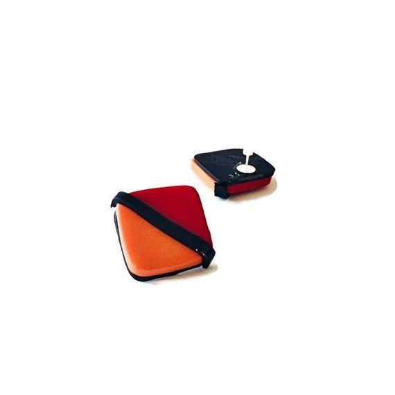 Retro Earrings Handmade, Square Stud Earrings for Women, Push Back or Clip On Earrings, Geometric St