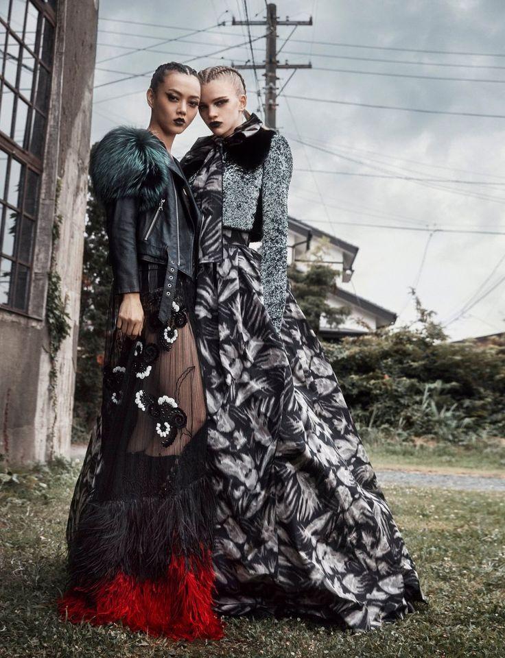 Numéro Tokyo December 2016 Model: Stella Lucia, Rila Fukushima Photographer: Federico de Angelis