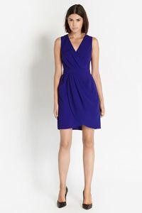 Caitlin Drape Crepe Dress