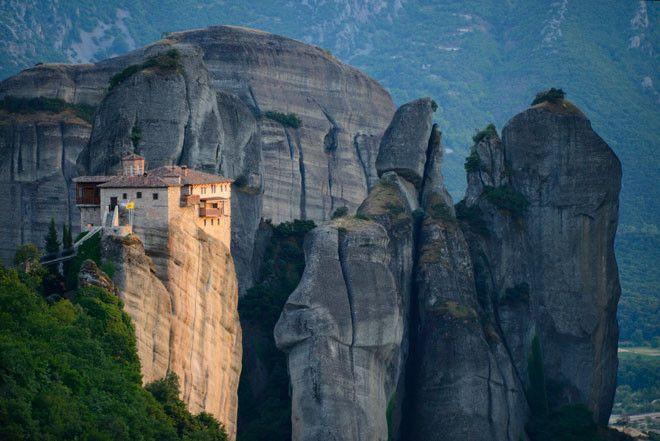 Los Monasterios de Meteora (Grecia) son una auténtica obra de ingeniería del siglo XIV.