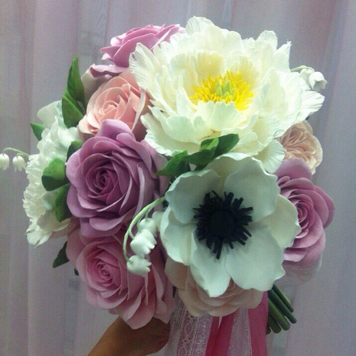 Polymer clay flower bouquet