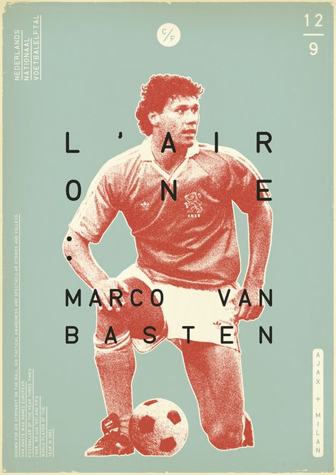 Van Basten (Sucker for Soccer by Zoran Lucić, via Behance)