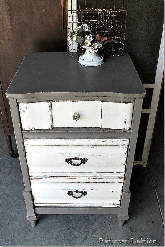 furniture revival paint over paint, painted furniture, Two Tone Paint Finish