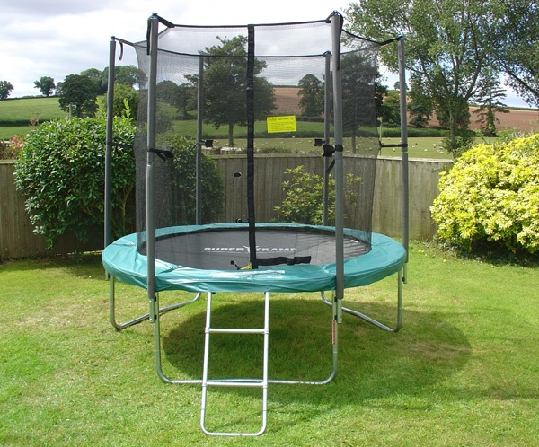 Super Flyer 8 (8ft) Trampoline with enclosure package.