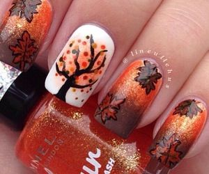 Fall nails - maybe a bit too intricate for me personally, but cute