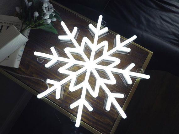 Snowflake Handmade neon sign Custom neon light by Echoneonstudio