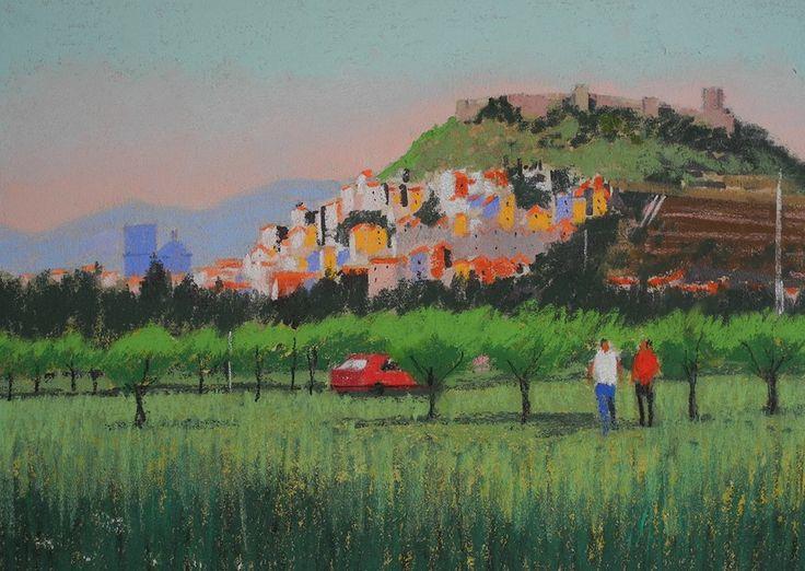 L'Australia incontra #Bosa nella pittura di Lyle Dayman #illustration #painting #sardegna #sardinia #australia #adelaide