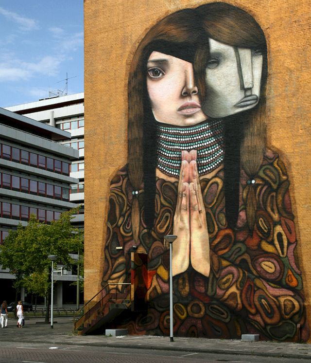 Best Street Images On Pinterest Street Art The Flowers And - Artist paints incredible seaside murals balanced on surfboard