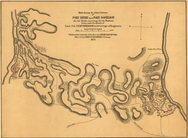 Best Maps Images On Pinterest Civil Wars Virginia And The Battle - Ft henry on us map