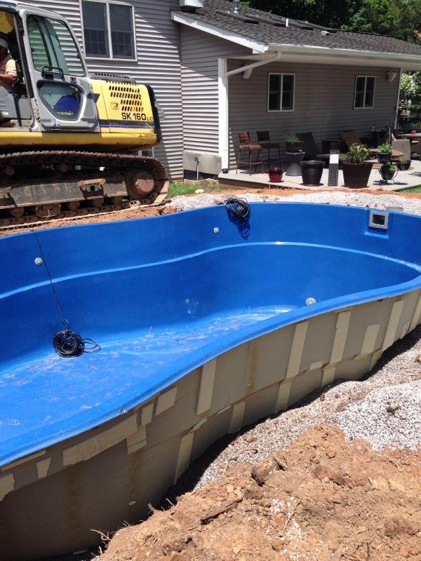 Fiberglass Pool Plumbing : Best fiberglass pool install images on pinterest