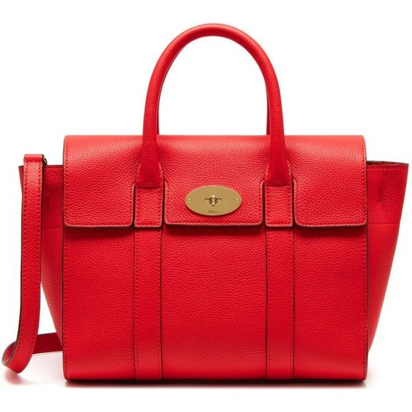 Mulberry Small New Bayswater (3.615 BRL) ❤ liked on Polyvore featuring accessories, bags and fiery red