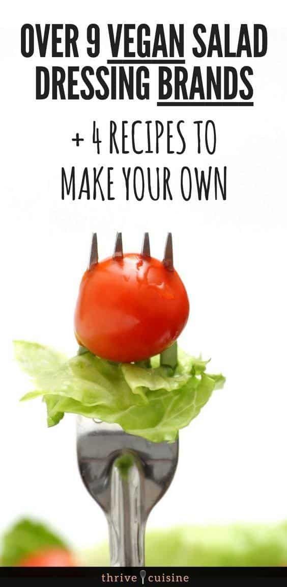 Best Vegan Salad Dressing Brands To Buy From The Store | Vegan Salad Dressing Recipes #vegan #vegantips #veganlifestyle via @ThriveCuisine
