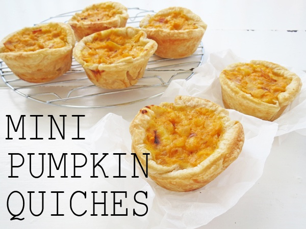 Perfect finger food for entertaining. Great served with salad for an easy dinner. Mini Pumpkin Quiches: http://bstrc.ps/11bUEVF #recipe