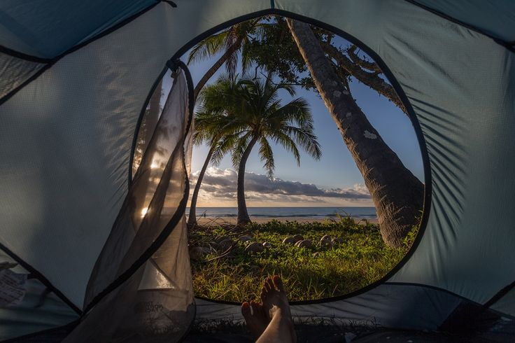 Matt-Glastonbury-Camping Mission Beach. Best camping spots in Queensland, Australia. For anyone trying to suss out a place to go this year, check this out....beautiful!