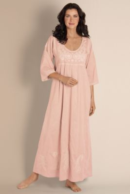 Women's Easy Knit Gown - Jersey Knit Gown, Dolman Sleeve Gown, Soft Nightgown | Soft Surroundings