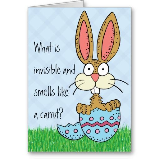 Funny Easter Bunny Joke Greeting Card