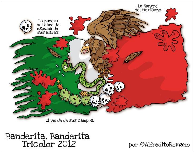 Banderita Tricolor... te amo. (Mexican little flag... I love you!).