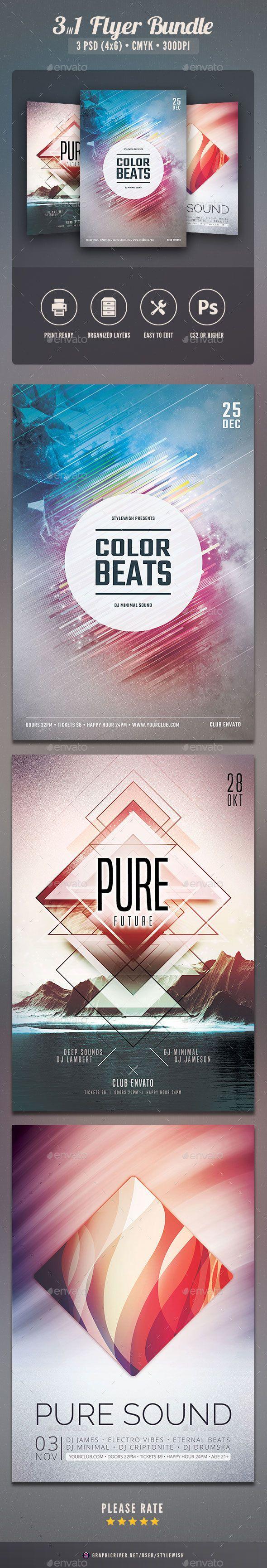 Party Flyer Template PSD Bundle