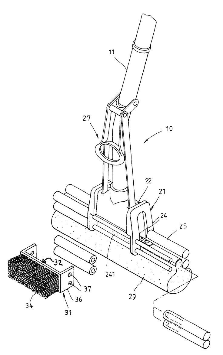 Brevetto US6865768 - Sponge mop assembly - Google Brevetti