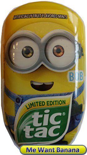 Limited Edition Minions Tic Tac Candy (3.4 oz) (Bob) #minions #tictac
