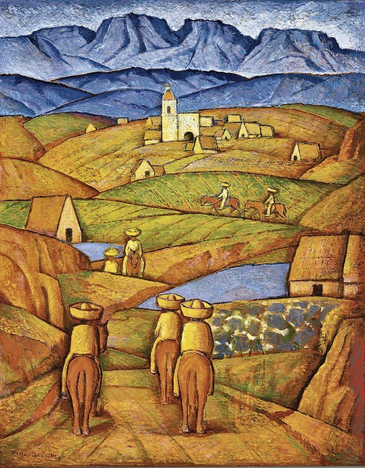 Los Charros del Pueblo / The Charros in the Village ca. 1941 oil on binder board / óleo sobre tabla comprimida 30 x 24 inches; 76.2 x 61 centímetros San Diego Museum of Art