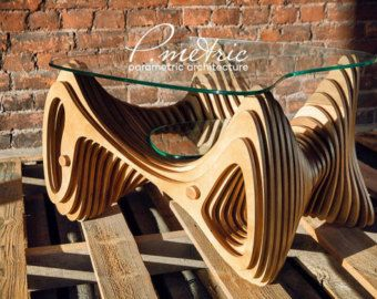 parametric table by Pmetric on Etsy
