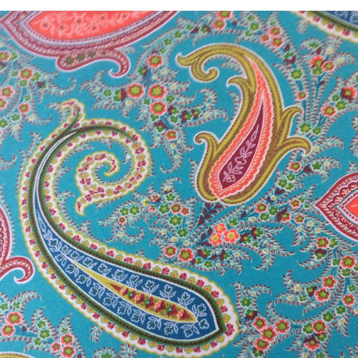 Pashmina In Turquoise Extra Wide Oilcloth
