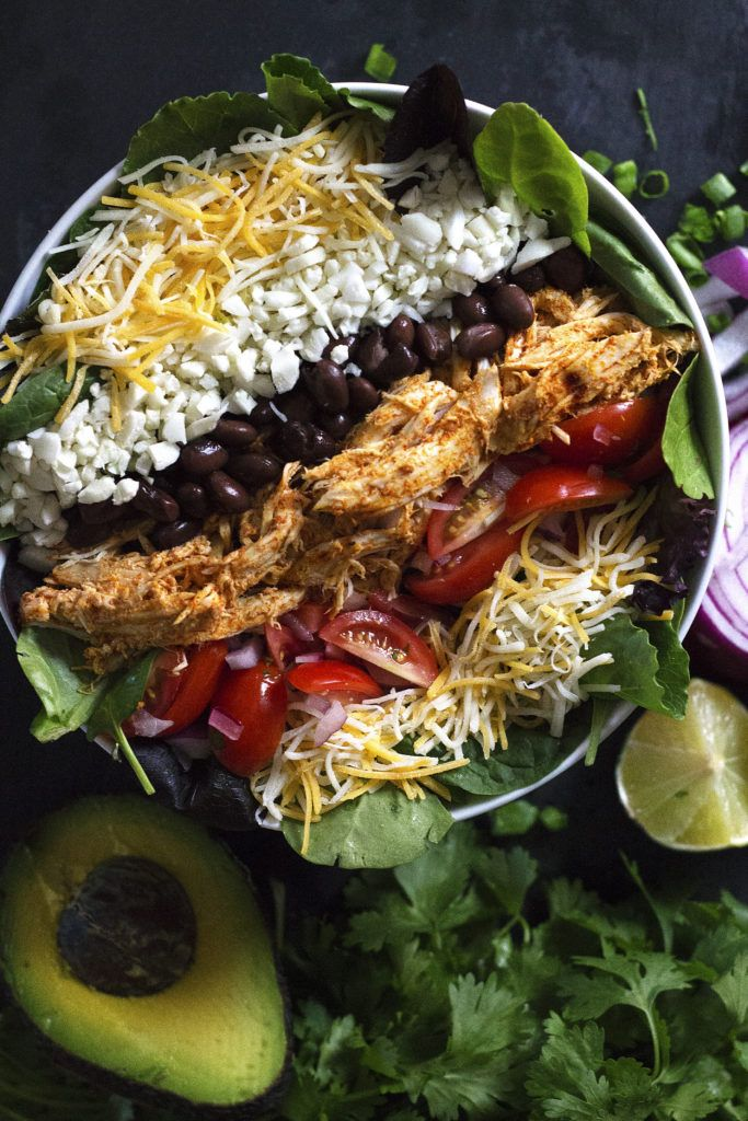 This Chipotle Chicken Burrito Bowl Salad is so full of fresh flavor it will be your new go-to healthy and hearty meal! Use left over chicken breast, or rotisserie chicken, and this healthy and hearty meal can be made in under 10 minutes...