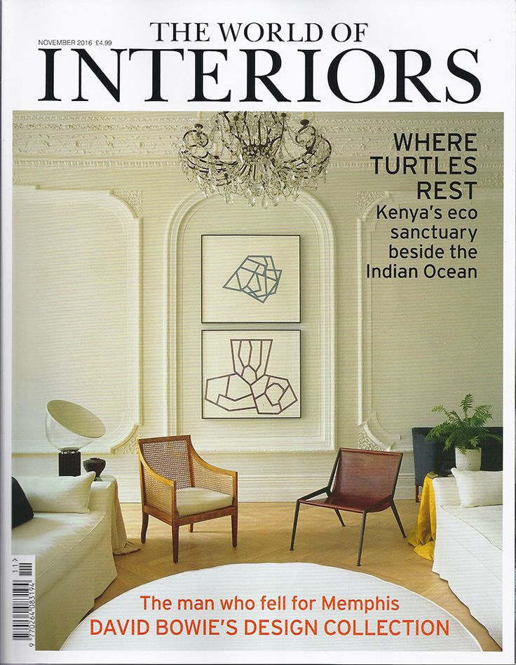Our fabulous Berlin chair on the front of The World of Interiors, November 2016