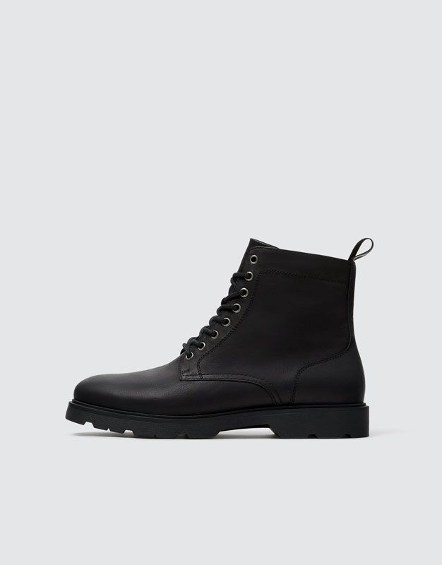 Black Mod State Boots Pull Bear Boot Pulls Boots Black Lace Up Boots