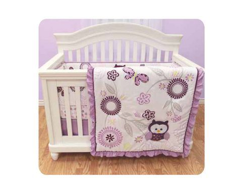 Baby 39 S First By Nemcor Very Berry Owl 3pce Crib Set For Sale At Walmart Canada Find Baby