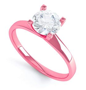OMGGG Pink Gold Engagement Ring