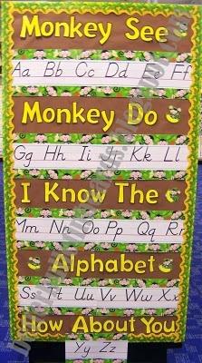Monkey Themed Alphabet! I thought of you @Emily Schoenfeld Schoenfeld Schoenfeld Landry