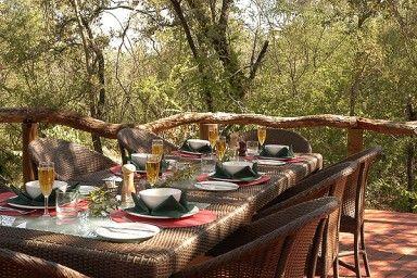 Motswiri Private Safari Lodge  - [Outside eating area]  North West Province - Africa