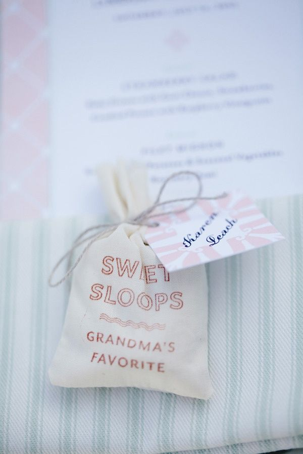 Homemade sweet wedding favours