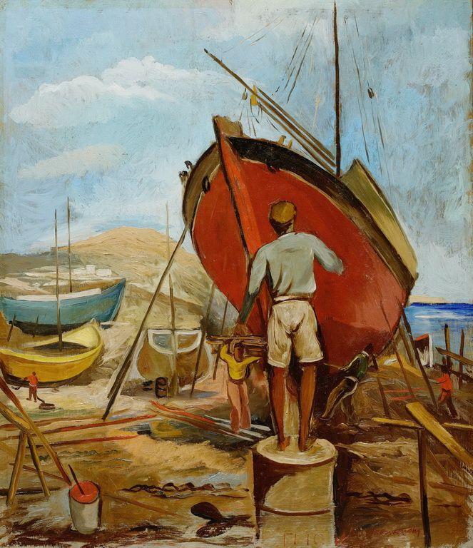 Βελισσαρίδης Γιώργος-Το βάψιμο του καϊκιου, 1951