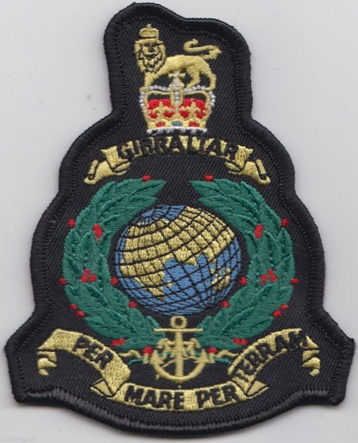 Royal Marines Corps RSM Royal Navy - OFFICIAL Embroidered Patch Badge
