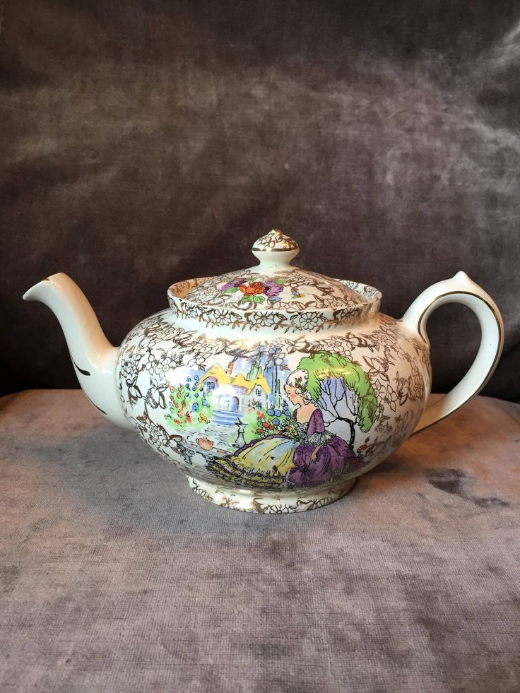 A personal favorite from my Etsy shop https://www.etsy.com/ca/listing/556798983/bcm-nelson-ware-pomadour-lady-teapot