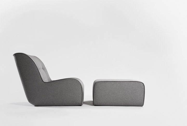ZULU - fotel z podnóżkiem