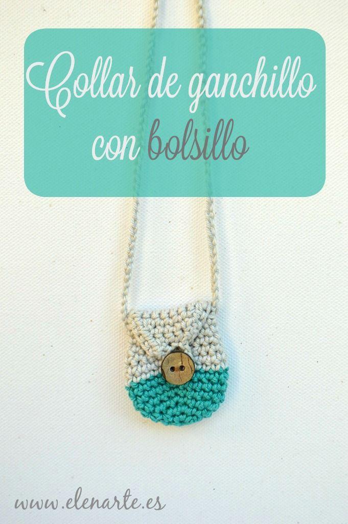 Collar de ganchillo con bolsillo / Pocket crochet necklace