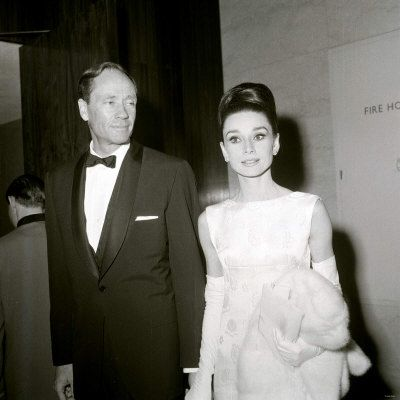 Audrey Hepburn and Mel Ferrer photographed at the British Film Academy Awards, April 1964.