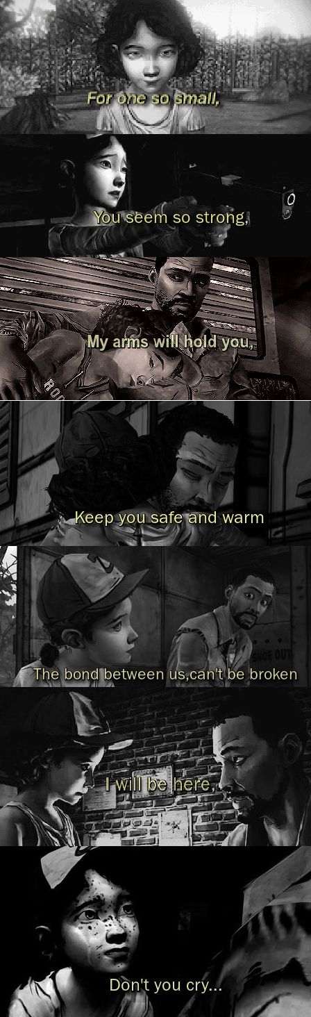 You'll be in my heart Clementine and Lee | The Walking Dead