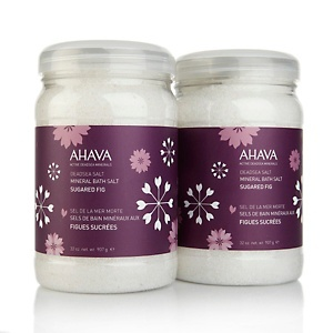 AHAVA Deadsea Mineral Bath Salt Duo - Sugared Fig at HSN.com