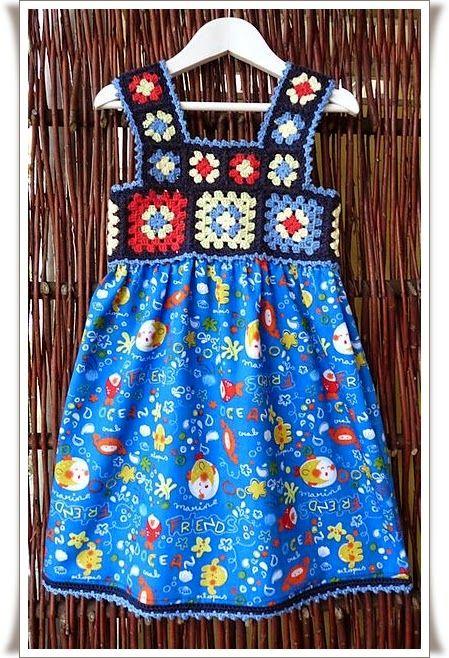 Elişi Örgü Çocuk Elbise Modelleri Örnekleri 14