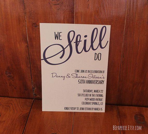 Custom Vow Renewal Invitation Downloadable Wedding